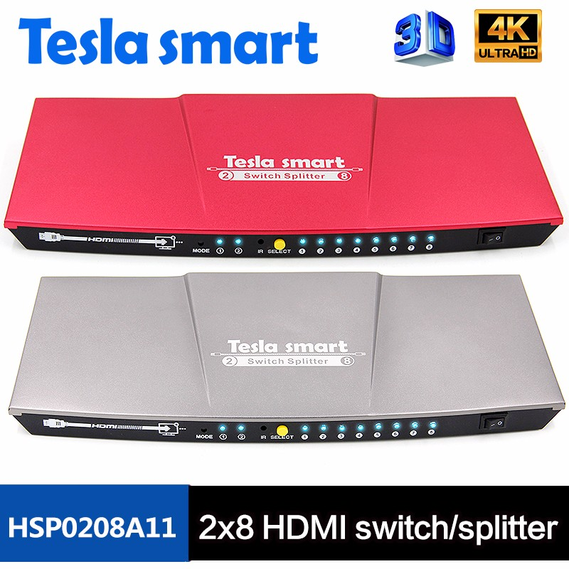 Best Quality Low Price 2x4 2x8 HDMI Switch Splitter Support 4k 3D