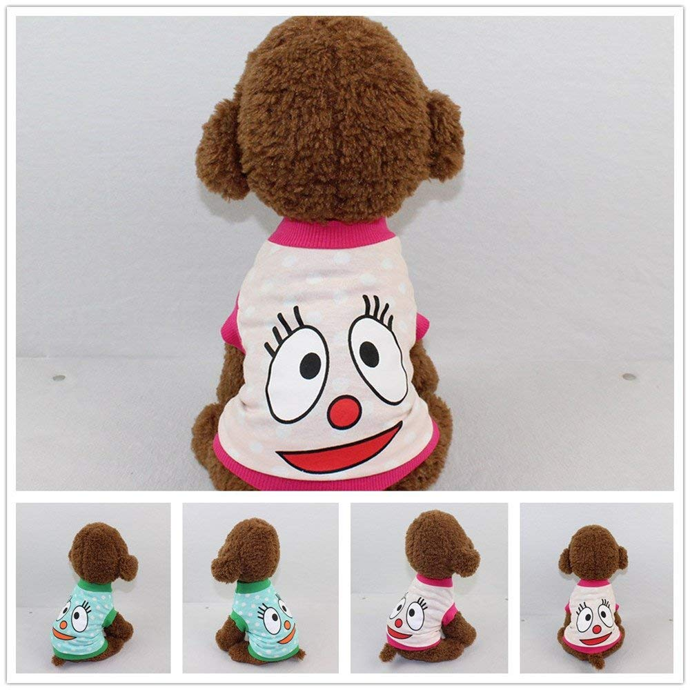 Pets Corner Market Unisex Funny King OF Big Eyes Dog Clothing Cotton Vest Puppy Costume For Small Dog Mascotas Clothes for Dogs