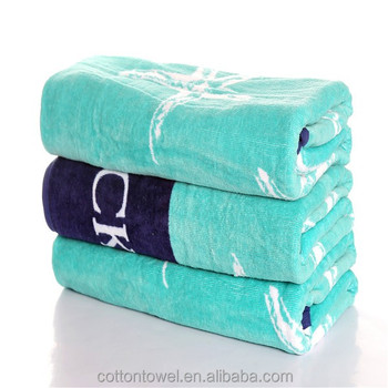 China Towel Manufacturer Full Color Reactive Printing 100 Cotton Large Thick Beach Towels
