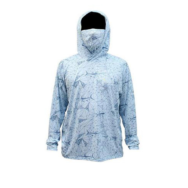 Lightweight Sublimation UPF 50+ Fishing Hoodie with Face Protection Fishing Clothing