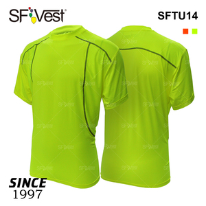 100% Polyester cool high visibility Sportswear safety shirts sport t shirt