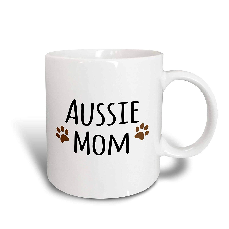 16 x 16 3dRose pc/_154059/_1 Aussie Dog Mom Australian Shepherd Doggie x Breed Brown Muddy Paw Prints Doggy Lover Mama Love Pillow Case