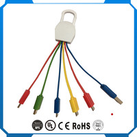 5 in 1 Patented USB Charging Cable, PVC Material