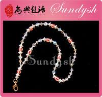 Summer Green Charms Long Keychain Shamballa Pendant Necklace
