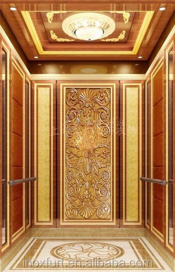 Gravure titane plaque de m tal couleur or pour ascenseur for Decoration porte ascenseur