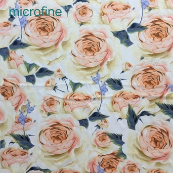 attractive design polyester print soft woven fashion garment suede fabric