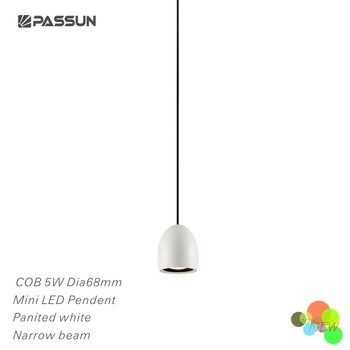 Contemporary 10degree Beam Angle White Mini Led Pendant Lights For Living Room Lamp Ping Mall Modern Hanging