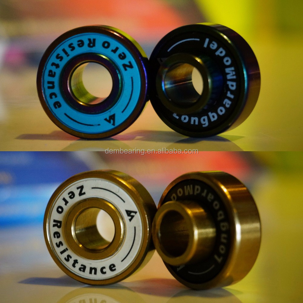 china Custom Printed Skateboard Bearings 608 Precision Quad Inline Skate Bearings for Scooter Wheels