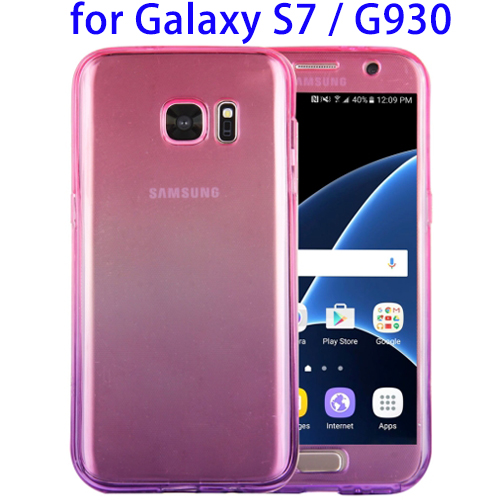 New Hottest Items Rose + Purple TPU Back Cover Case for Samsung Galaxy S7