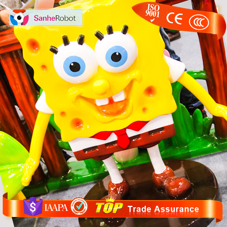 Hottest kids amusement park items life-Siz gifts and crafts fiberglass cartoon character statue for window display & Props