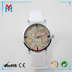 great promotion for last half month smart watch cheap watches polo Womens Fashion Watches with world map dial