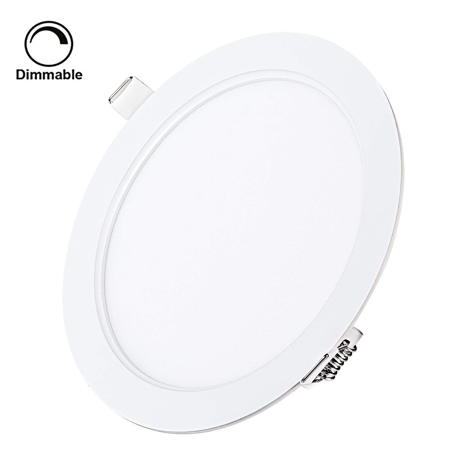 """9W 5"""" Dimmable LED Recessed Panel Light,Ultra-Thin Round LED Panel Light,3000K Warm White,720lm,LED Recessed Ceiling Downlight Fixture,110V LED Driver Included"""