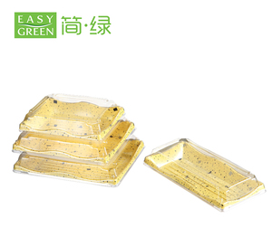 wholesale plastic sushi fruit dental cookie food packaging take-awaybiodegradable disposable tray