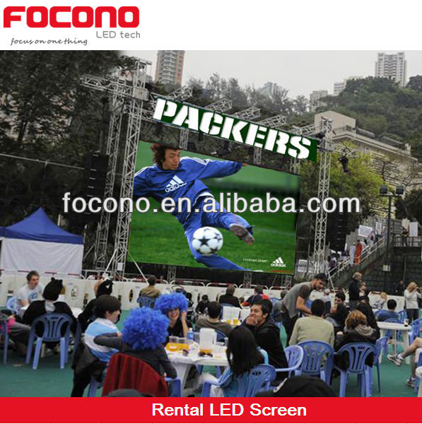P10 high pixel real color 1R1G1B full color led display