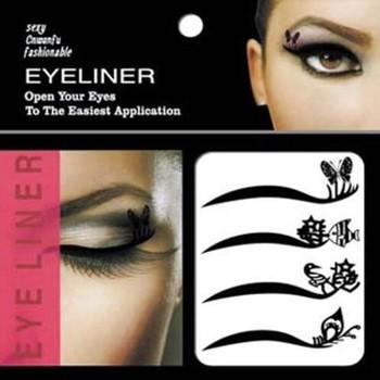 Temporary Tattoo Eye Shadow Eyelid Lip Transfers Eyeliner Sticker ...