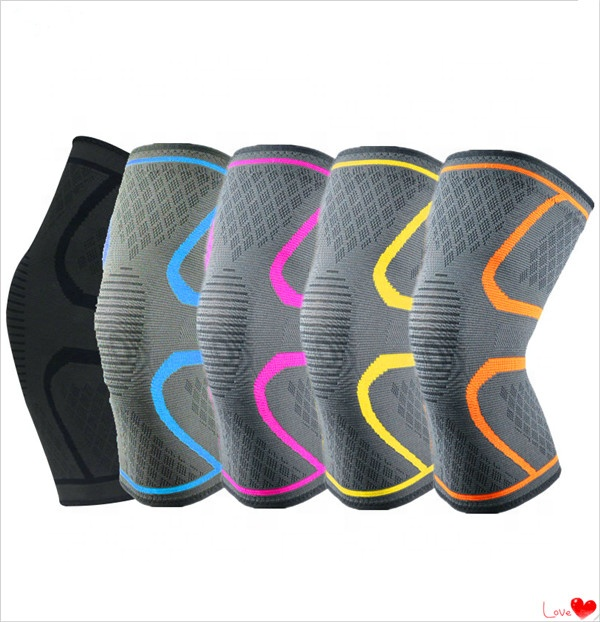 Athletics Knee Compression Sleeve Support for Running, Jogging, Sports, Joint Pain Relief, Arthritis, Red;green;blue;orange;etc