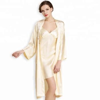 56f3252c10e Women Silk Pajamas Sexy Nightgown For Honeymoon - Buy Long Silk ...