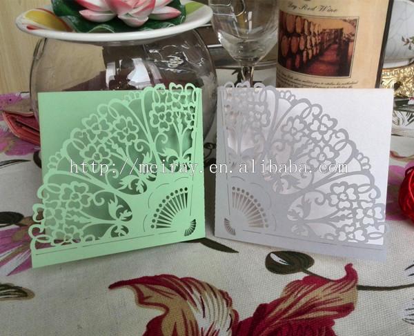 Fan Shaped Wedding Invitation Cards Buy Fan Shaped Wedding
