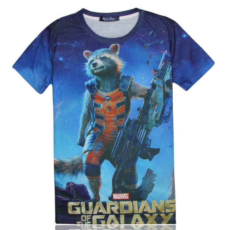 4ebd39bc97a3 Guardians of the Galaxy 3D T-shirt Rocket Raccoon Swag Clothes Men T Shirt  2015 Fashion Summer Tees Shirts Cartoon Super Hero