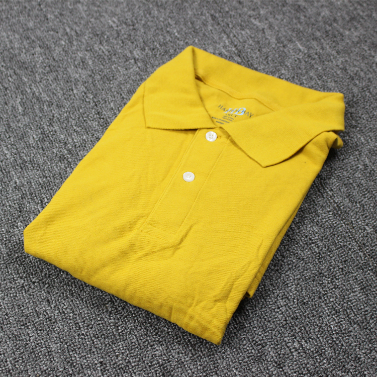 Apparel Stocklots Bulk Yellow Double Mercerized Cotton Polo Golf Shirt
