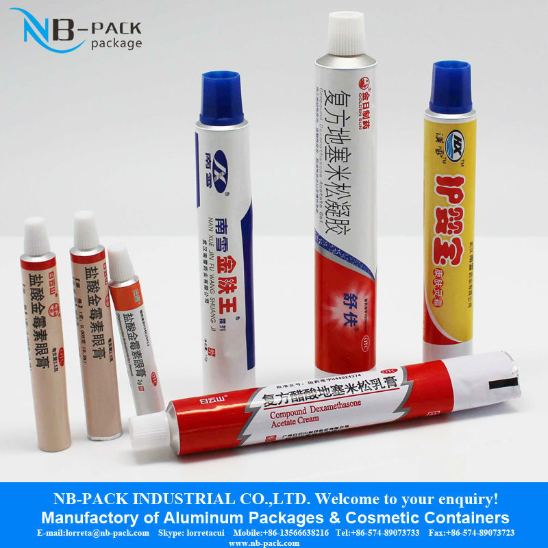 6 Color Offset Printing Aluminum Cosmetic Soft Flexible Collapsible Tubes Packaging