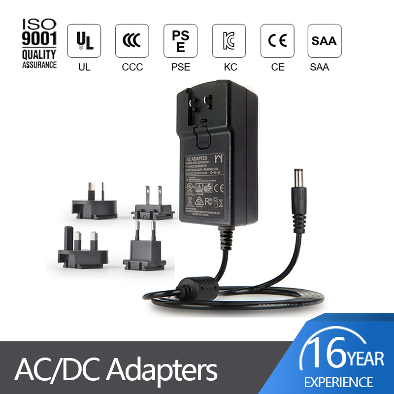 interchangeable plug power adapter 60w wall 12v 5a 5000ma ac dc switching power supply adapters with eu us au plug