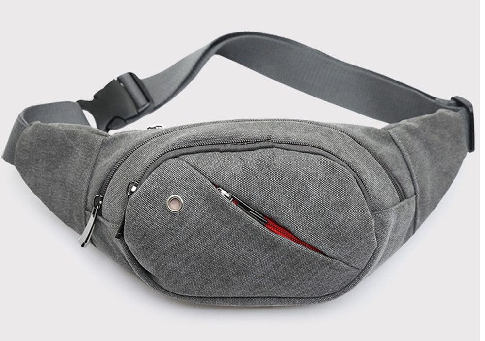 Waist Pack For Men Women Fanny Pack Bum Chest Bag Hip Money Handbag Belt canvas men motorcycle waist bag running long belt bag