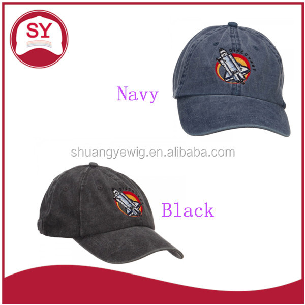 Space Shuttle Discovery Embroidered cotton baseball cap with adjustable buckle strap closure