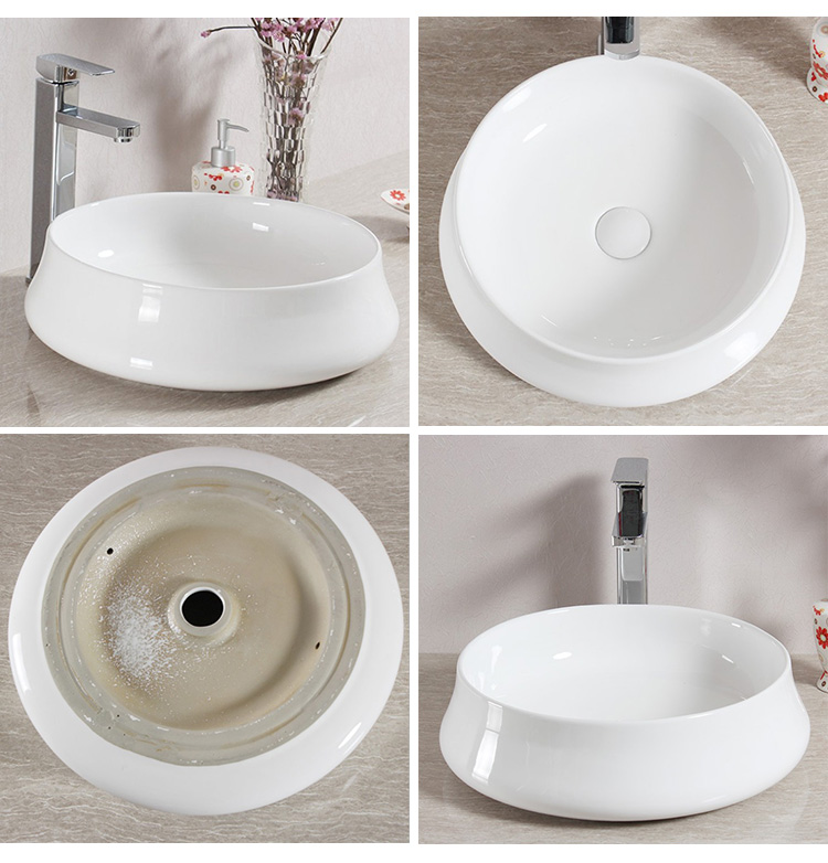 Ceramic round wash basin designs in living room