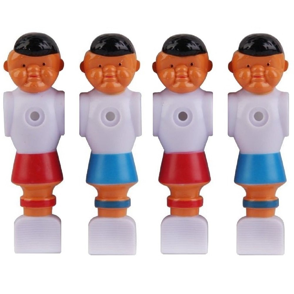 2 Red and 2 Blue Old Style Foosball Men 4 Players w/Ears Fits 5/8 inch Rods