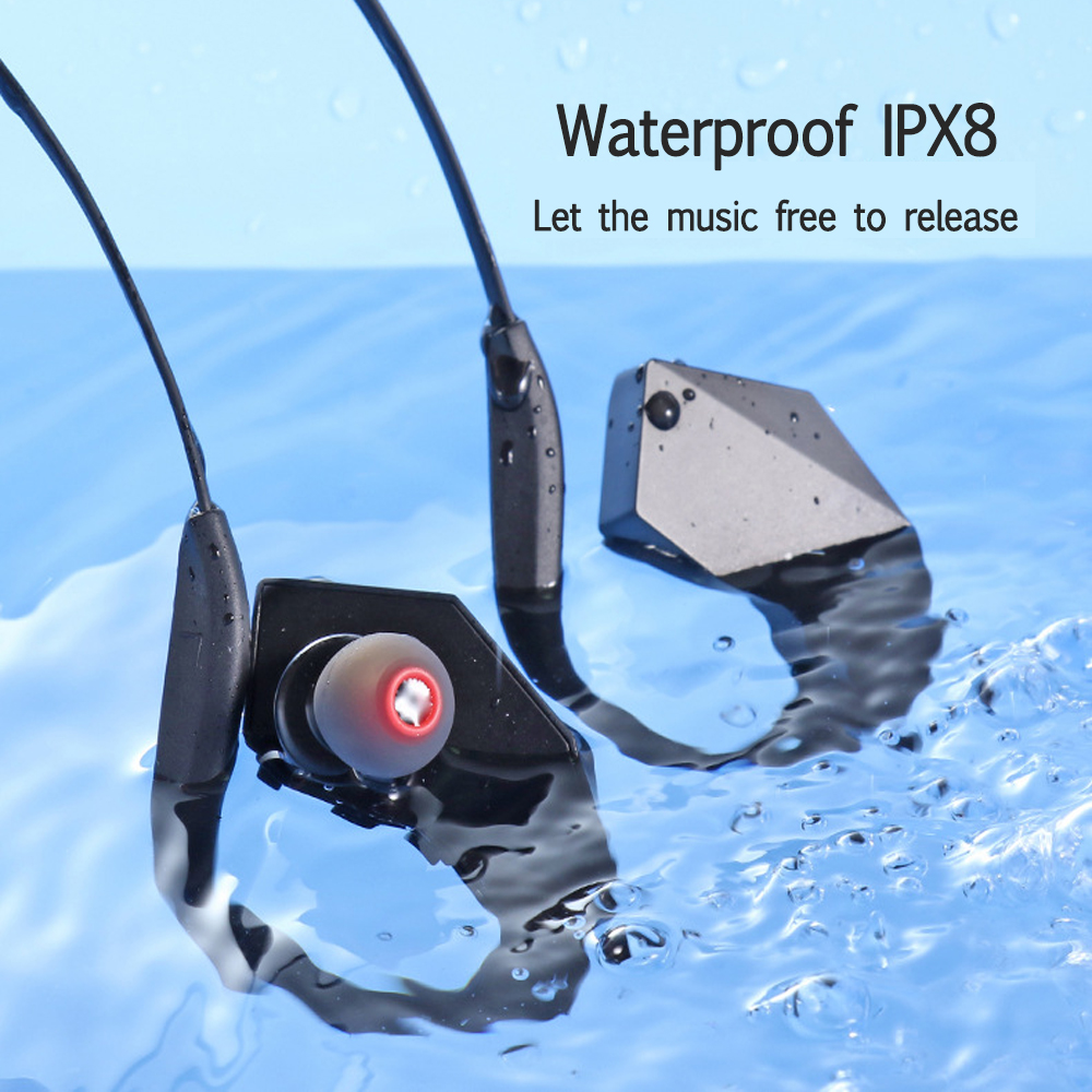 New Arrival 8GB Waterproof IPX8 All in One MP3 Player Bluetooth Headphones Wireless