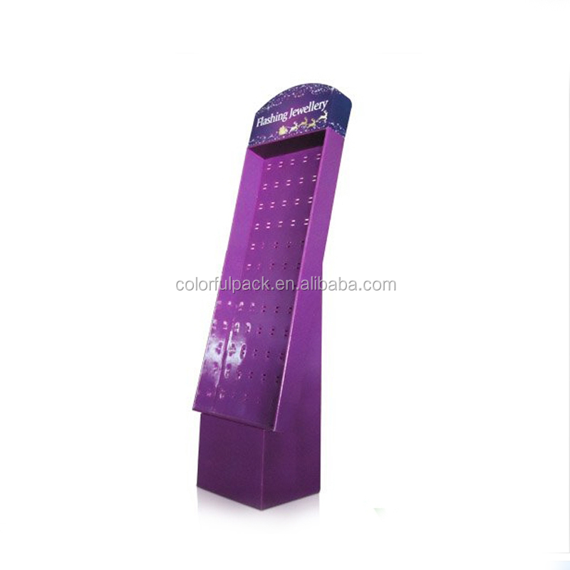 Recyclable Free Standing advertising corrugated cardboard promotion pop display