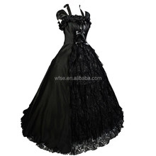 Black Lolita Victorian Era Clothing Gothic Dresses For Sales