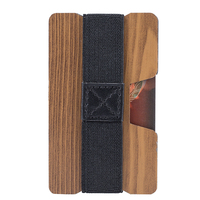 Wood grain card holder for Promotional Advertising wood texture slim wallet