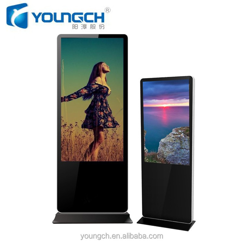 Totem interactive free standing advertising board 42 inch wifi 3G standalone high speed streaming virtual connection board multi