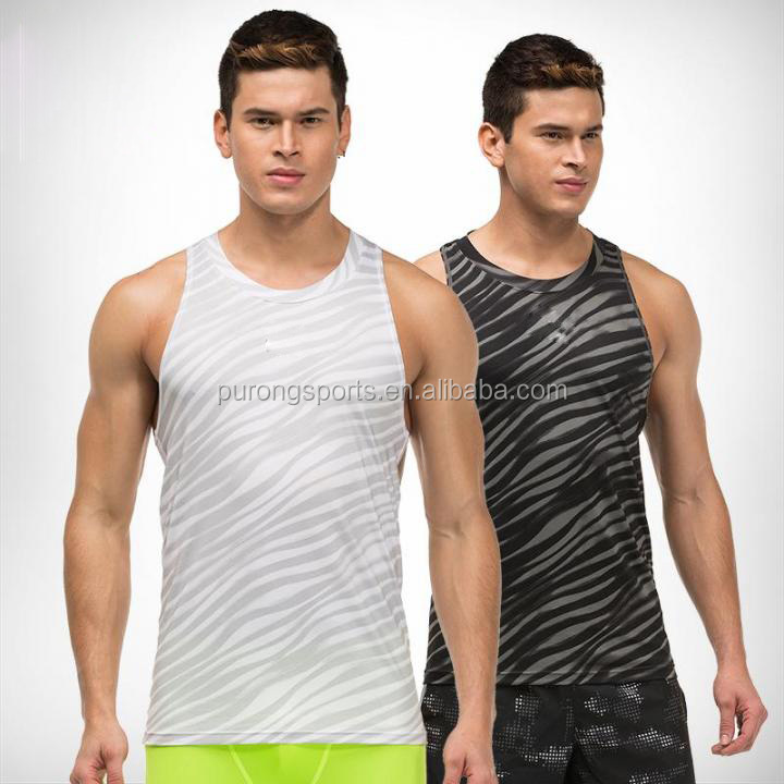 Exercise Running Sports Vest Men's Quick Dry Breathable Jogging Tank Tops Fitness Sleeveless Training T-shirts