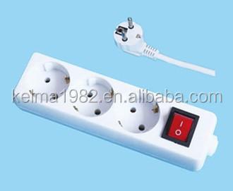 European 3 Way Multi Plug Socket,Electric Plug Socket Eu-8003 - Buy ...