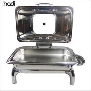 Catering equipment kitchen modern charms stainless steel full size roll top chafing dish fuel for sale