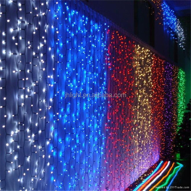 led christmas curtain waterfall lights led starry sky lightstage background curtain - Waterfall Christmas Lights