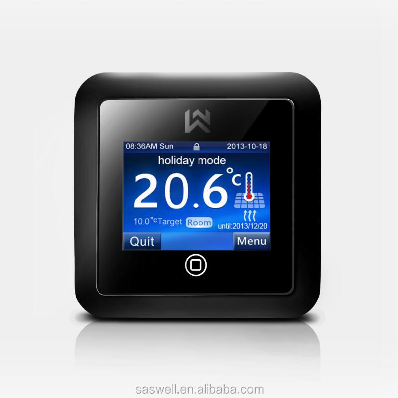 saswell digitale heizung thermostat f r carbon heizung. Black Bedroom Furniture Sets. Home Design Ideas