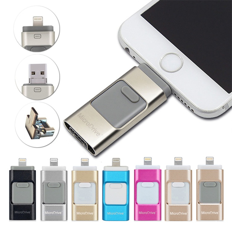 16gb 32gb 64gb otg usb flash smartphone pen drive for iphone 6 6 plus and samsung