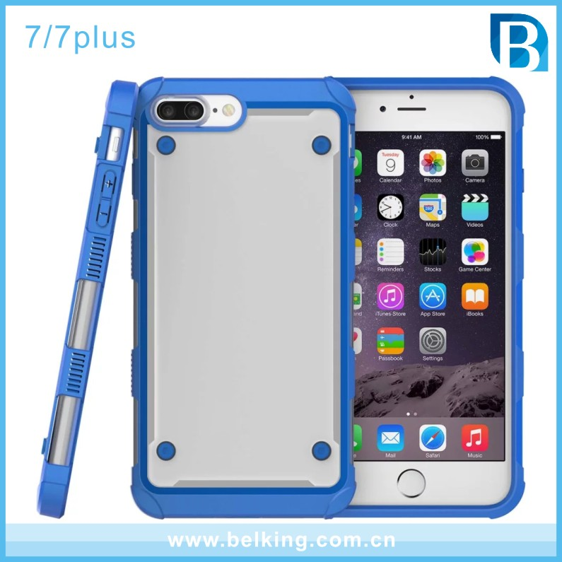 For iPhone 7 Clear Crystal Back Cover Shockproof Bumper Case for iPhone 7 Plus