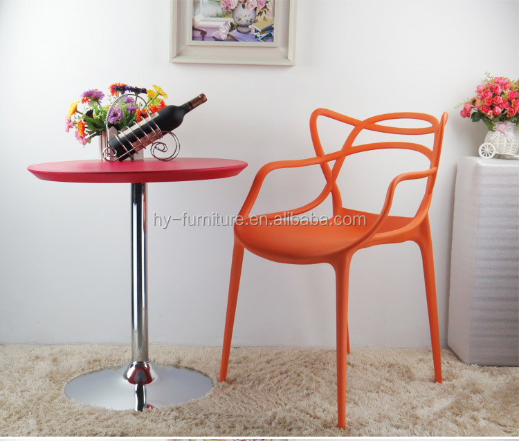 Like cat ears design, Plastic cafe chair,Plastic cafe stool, HYX-601