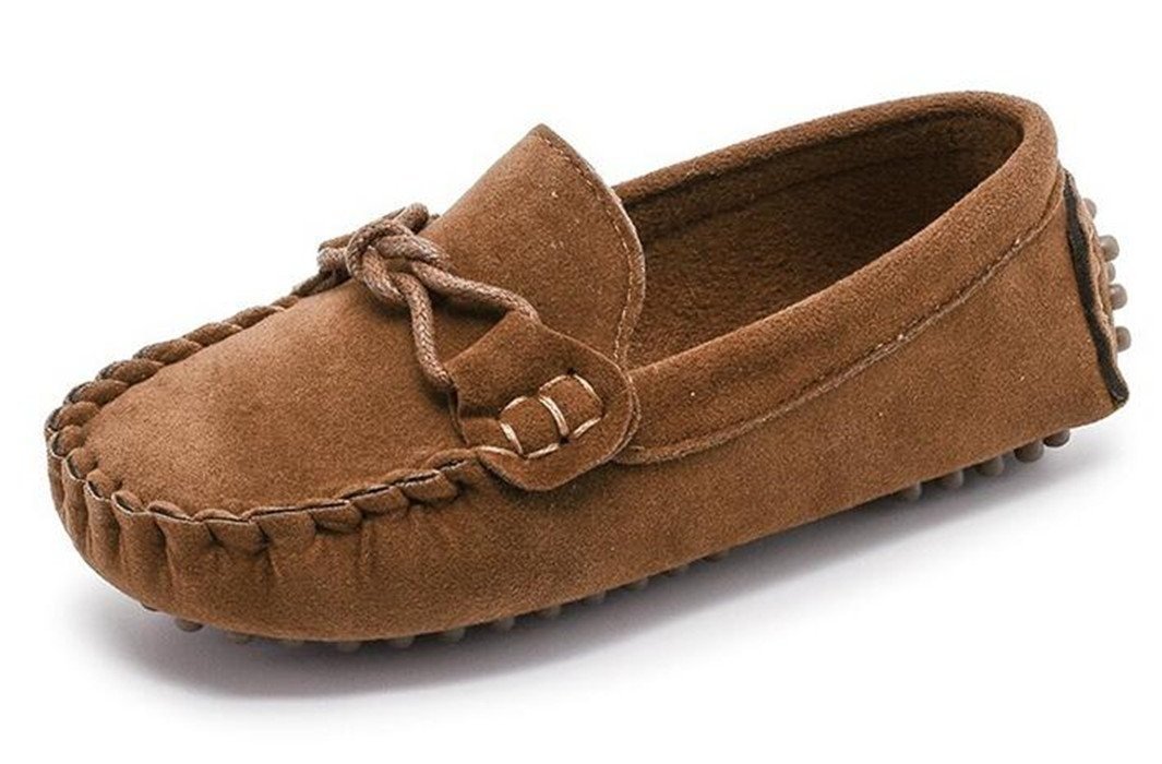 3ab8453877e Get Quotations · Bumud Girl s Boy s Moccasin Faux Suede Slip-On Loafers  Shoes(Toddler Little Kid