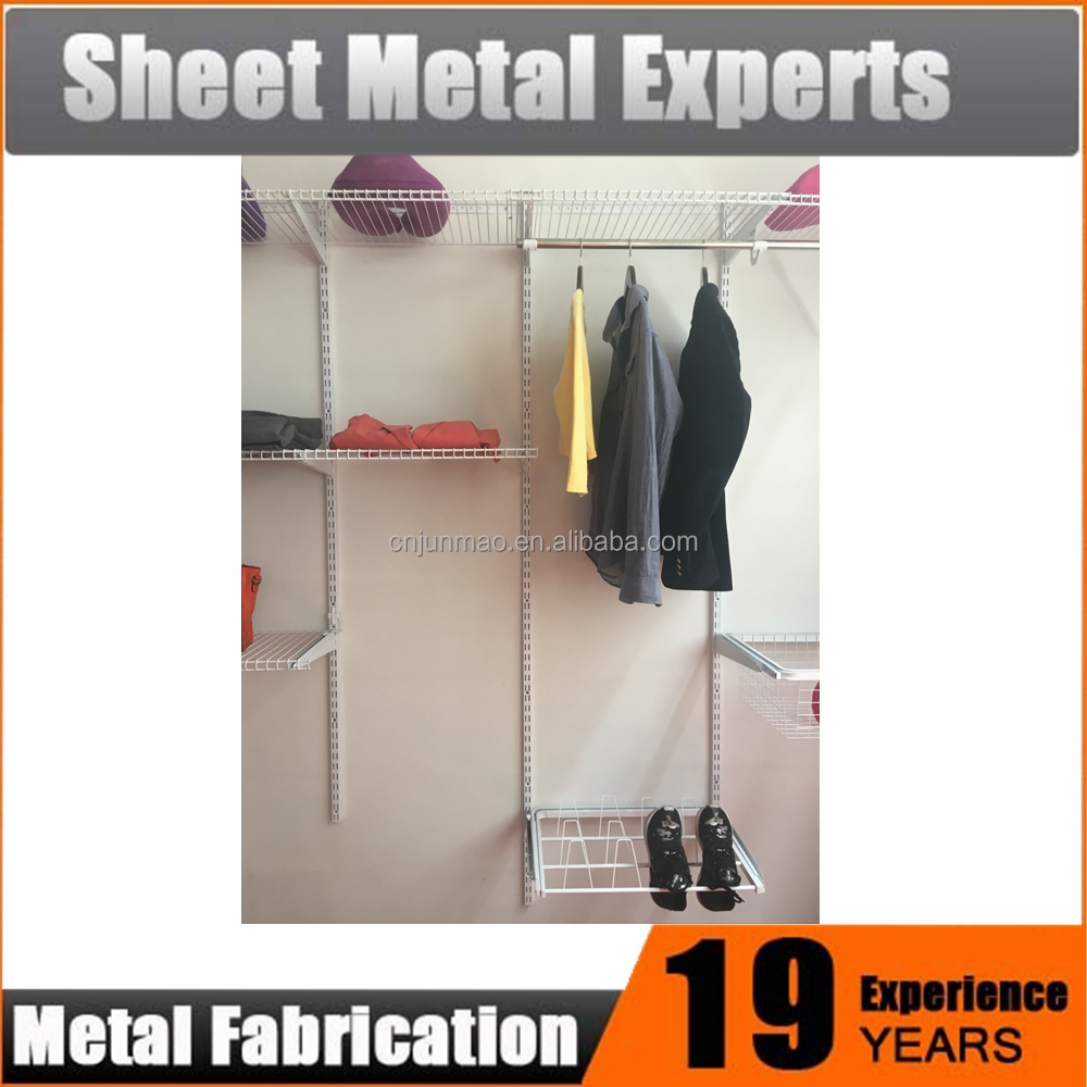 Steel Bedroom Wardrobe Closet Organizers Shelving System