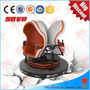 Shopping Mall Electric 3 seats 9D VR Mount Virtual Reality google cardboard 3d active glasses