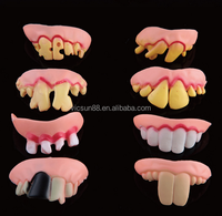 HL-013 yiwu caddy Halloween Costume Party Dental Fright False Vampire Fang Teeth Toy fake teeth toy