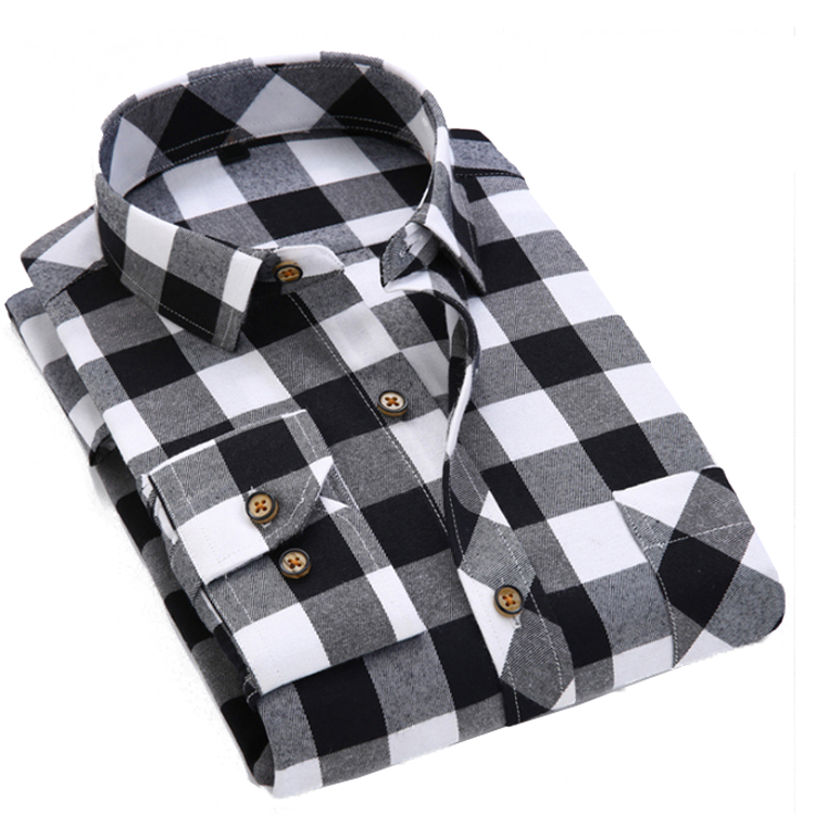 Wholesale Stretch Plaid Flannel Fashion Men's Custom <strong>Shirt</strong>