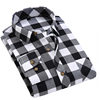 Wholesale Stretch Plaid Flannel Fashion Men's Custom Shirt