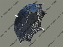 Black Battenburg Lace Parasol - Lady's Parasol